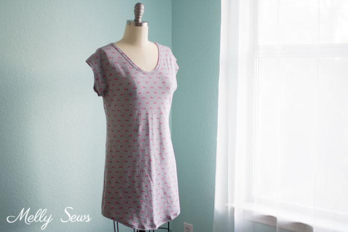 Tutorial and pattern: Sleep shirt