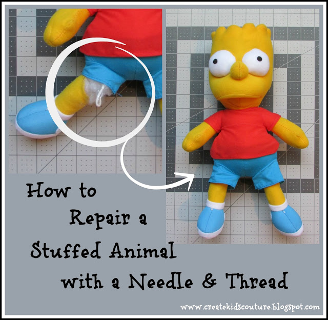 Tutorial: How to repair a hole in a stuffed animal
