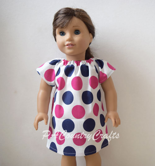 Tutorial and pattern: Peasant dress for an 18″ doll