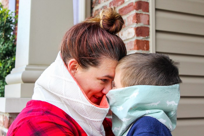 Tutorial: Face warmers for adults and kids