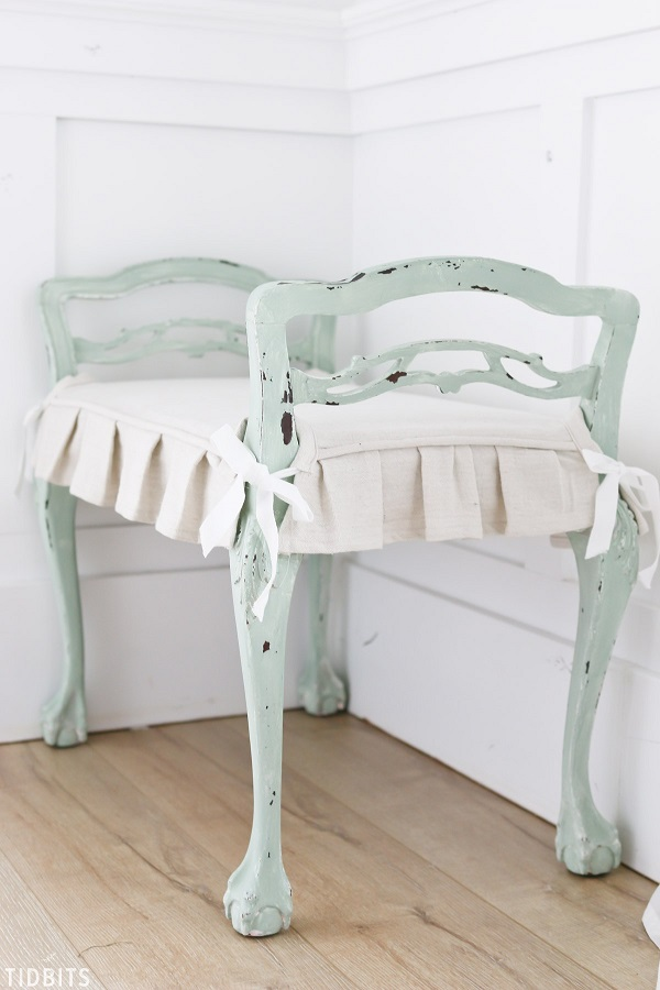 Tutorial: Chair or bench cushion slipcover