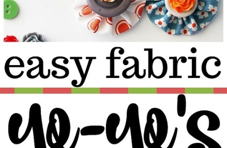 Tutorial and template: Scrap fabric yo-yos