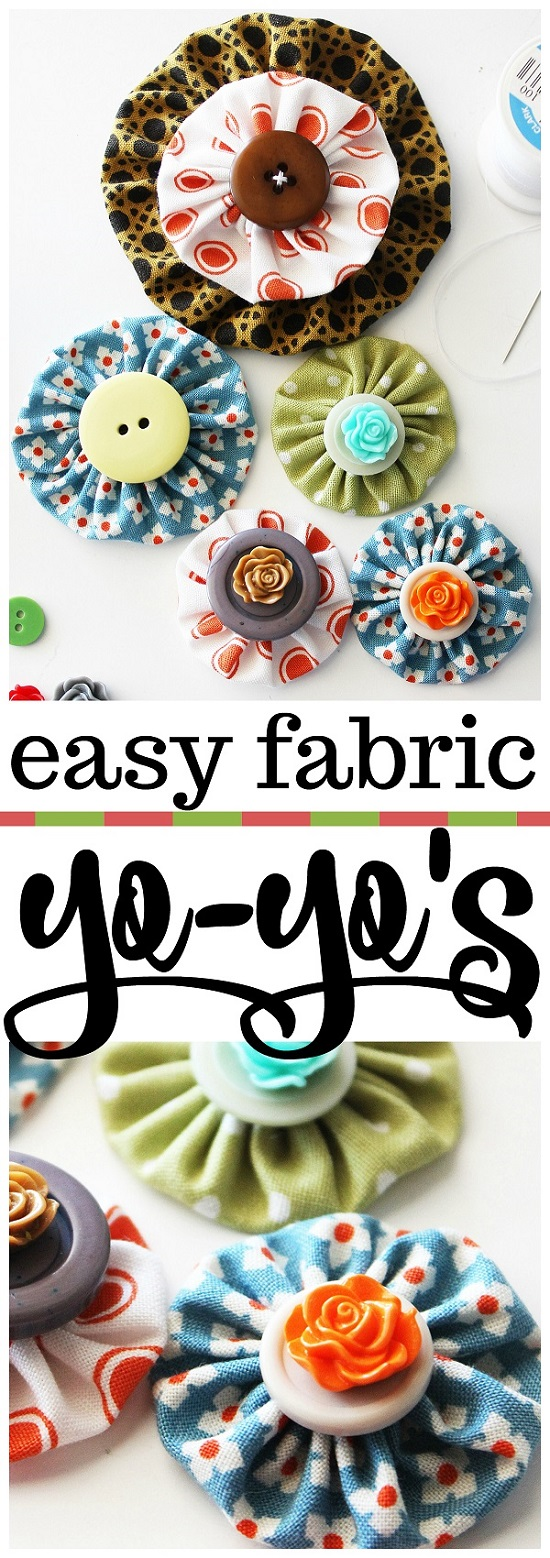 Tutorial and template: Scrap fabric yo-yos