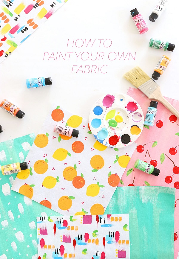 Tutorial: Make custom fabric by painting your own designs