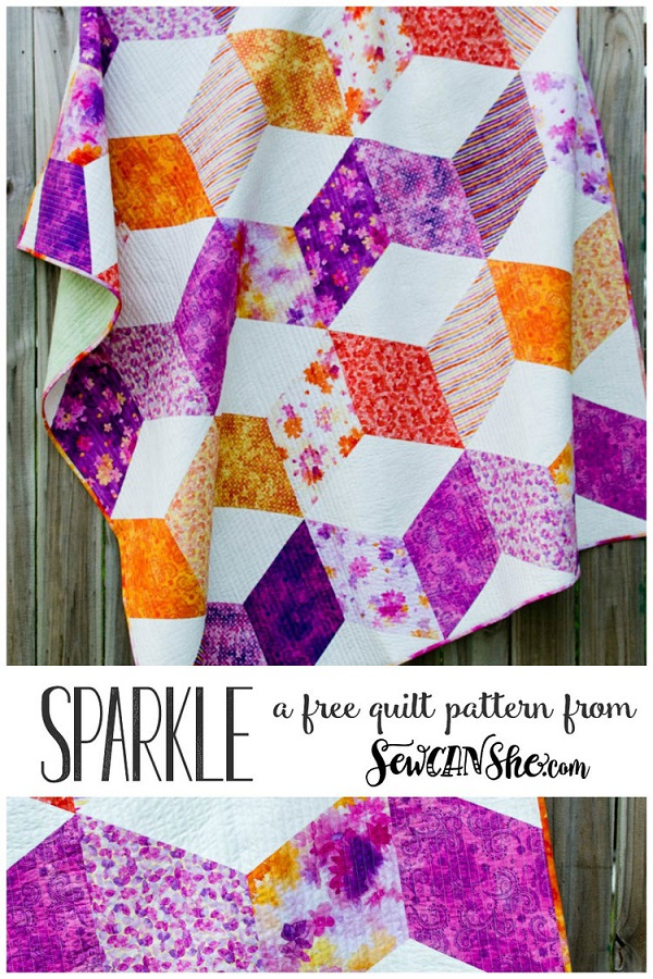 Tutorial and pattern: Sparkle quilt