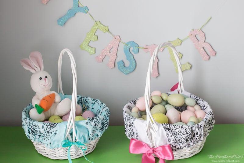 Tutorial: Easy bandana Easter basket liner