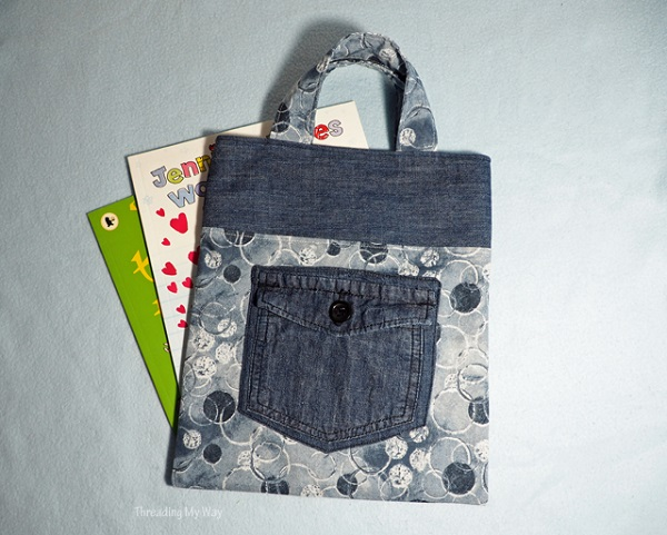 Tutorial: Denim jeans pocket tote bag