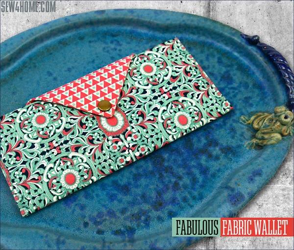 Tutorial: Fabric wallet with plenty of pockets