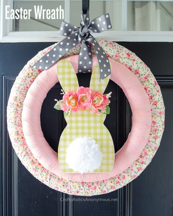 Tutorial: Fabric Easter bunny wreath