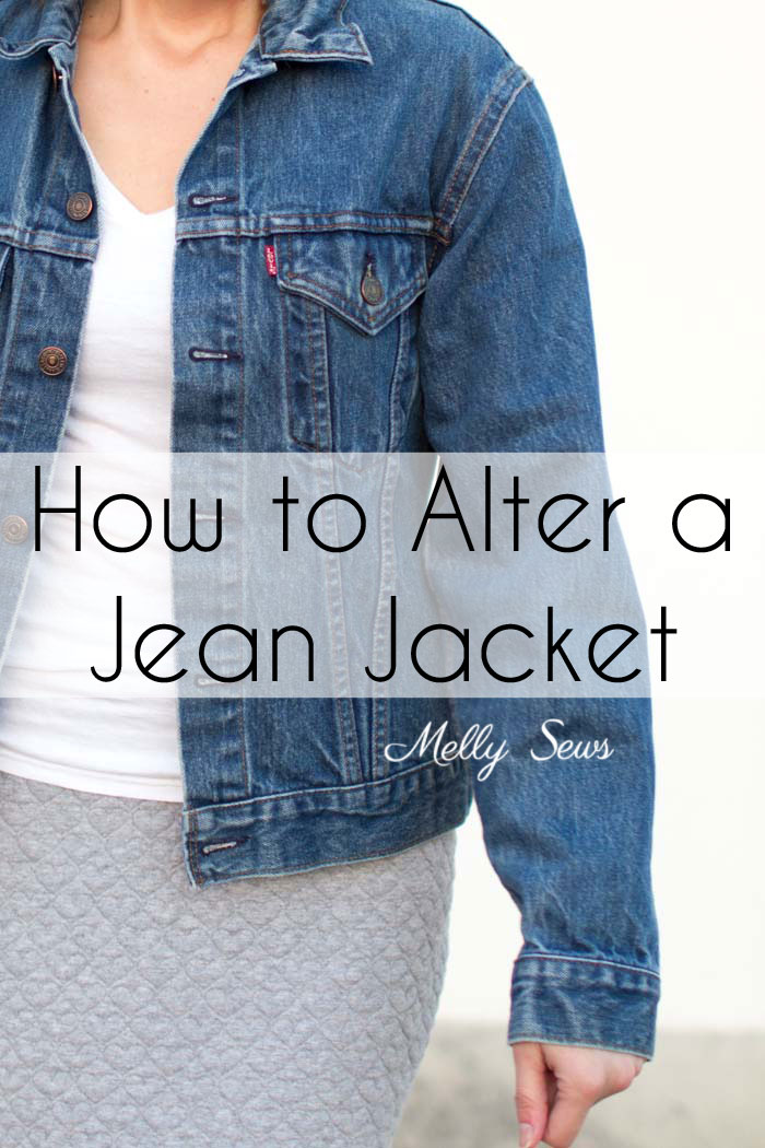 Tutorial: How to take in a jean jacket