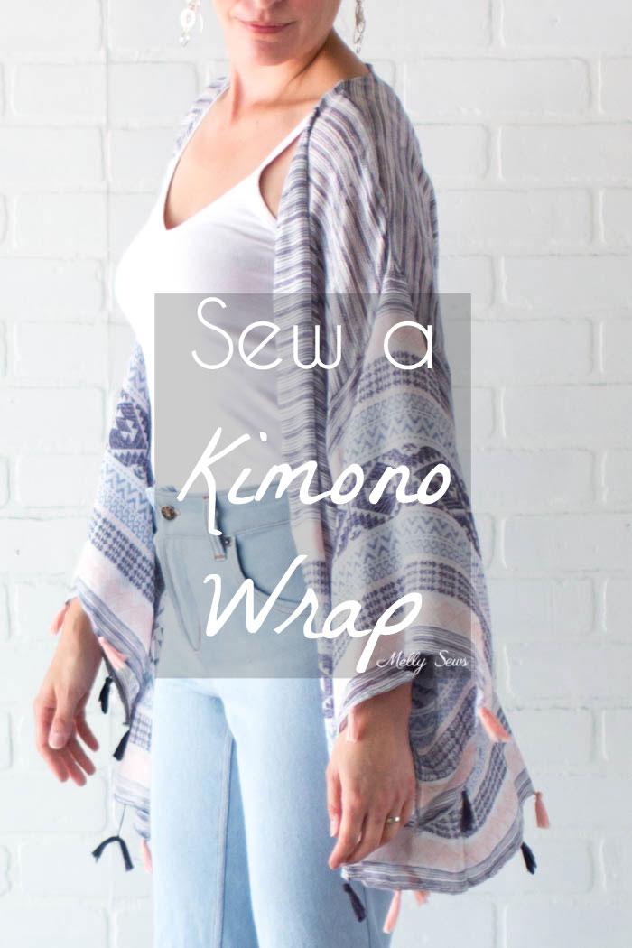Tutorial: Kimono wrap made from scarves