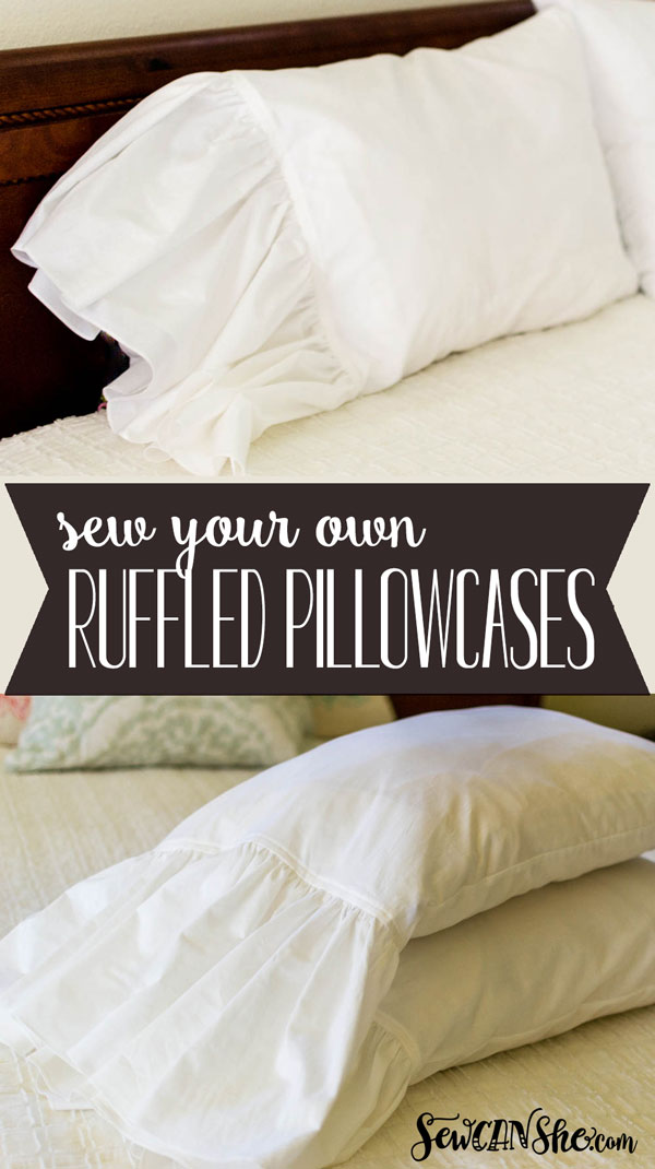 Tutorial: Ruffle cuff pillowcases
