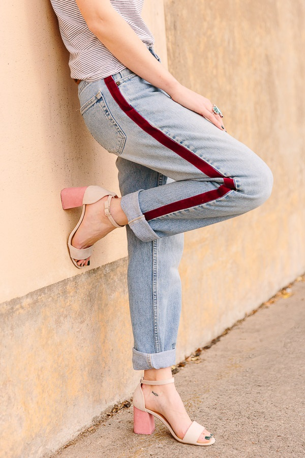 Tutorial: DIY side stripe pants, no sewing required