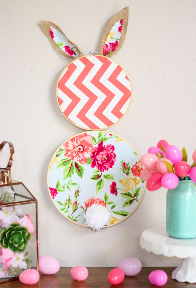 Tutorial: Embroidery hoop Easter bunny wall decor