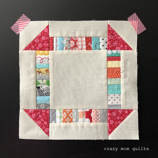 Tutorial: Scrapbusting churn dash quilt block