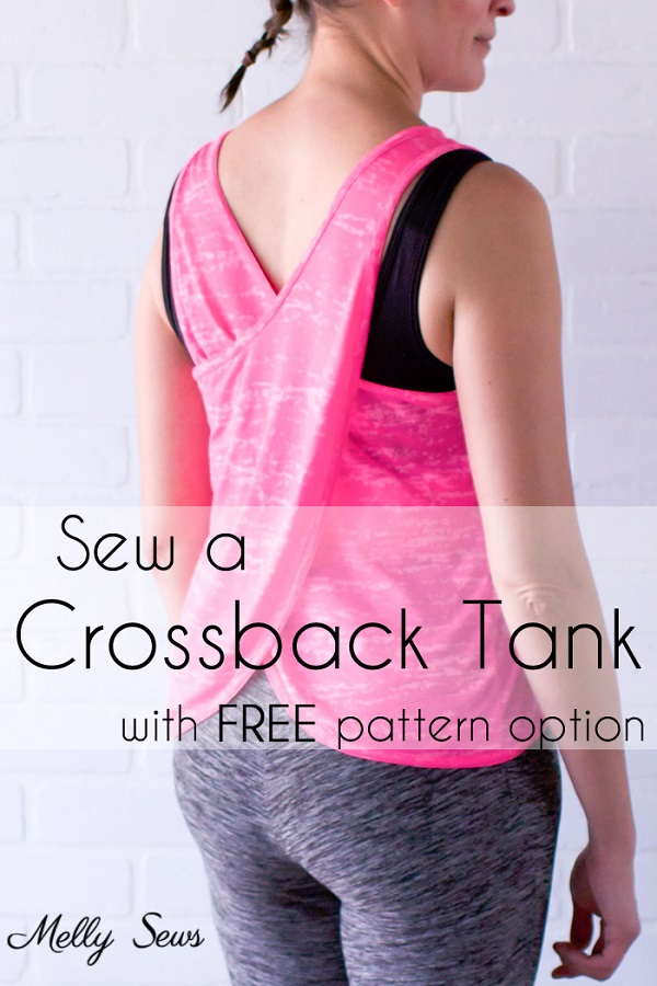 Tutorial and pattern: Women's crossback tank