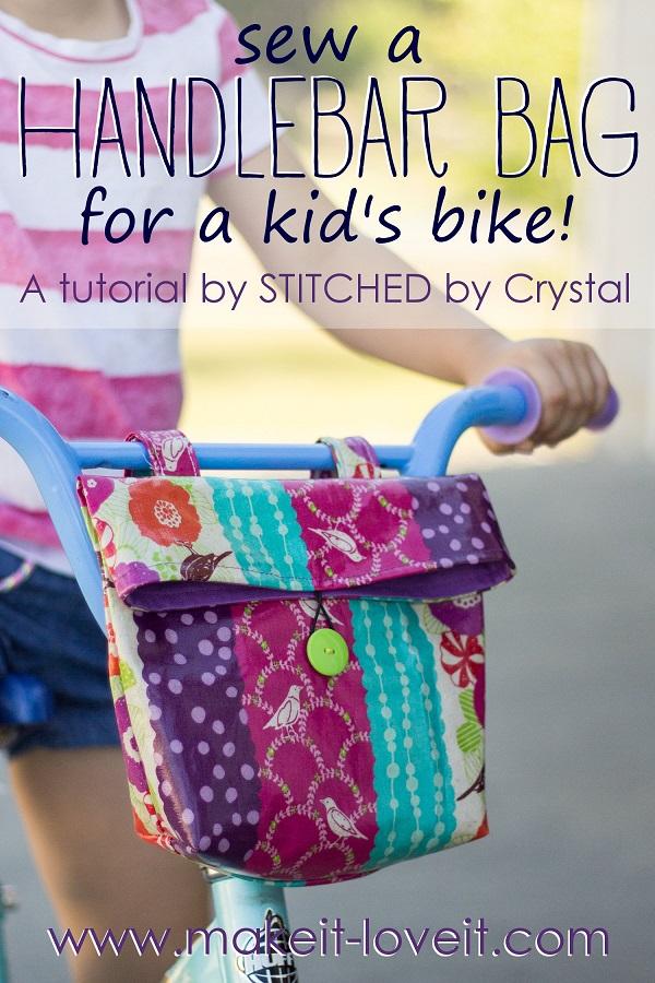Tutorial: Bike handlebar bag for kids