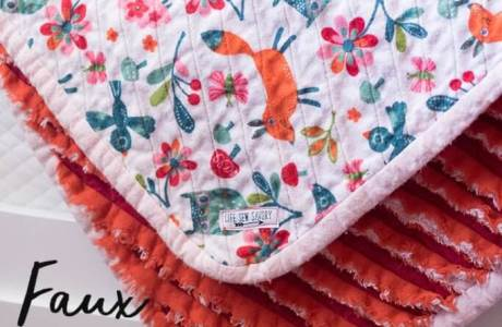 Tutorial: Faux chenille flannel blanket