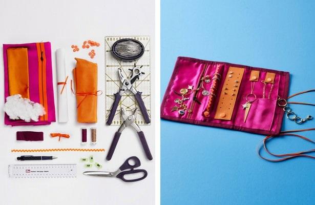 Sewing tutorial: Travel jewelry organizer