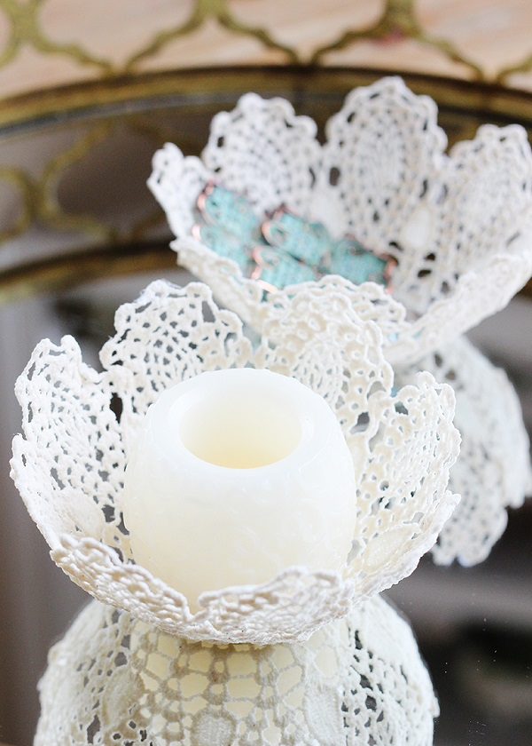 Tutorial: Lace bowls made from doilies