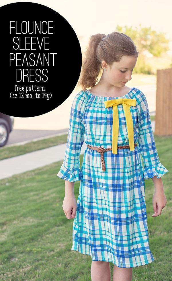Sewing tutorial: Flounce sleeve peasant dress