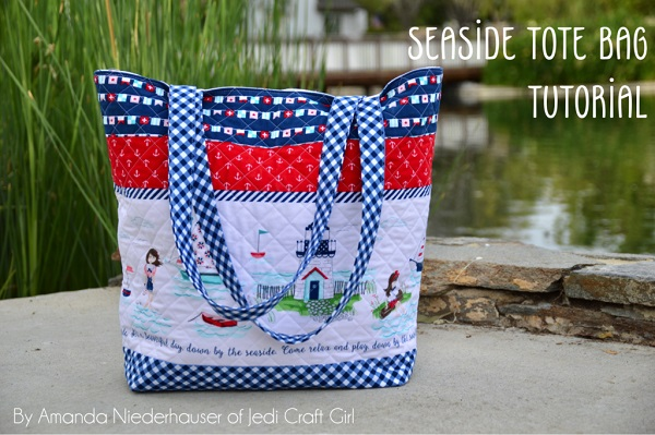 Sewing tutorial: Seaside tote bag