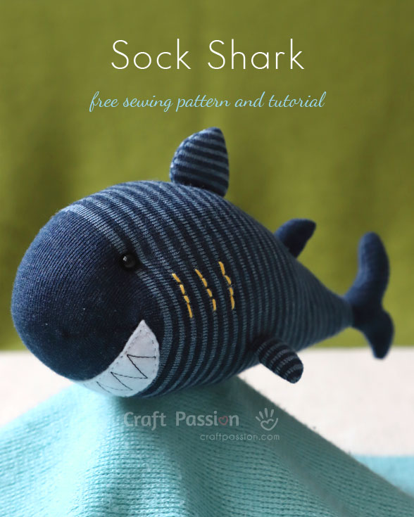 Sewing tutorial: Shark sock softie
