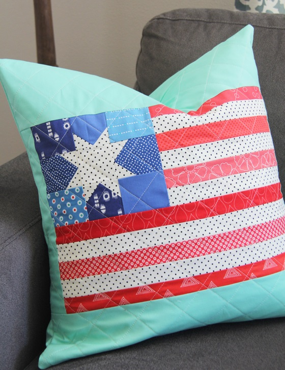 Tutorial: Patchwork flag quilt block