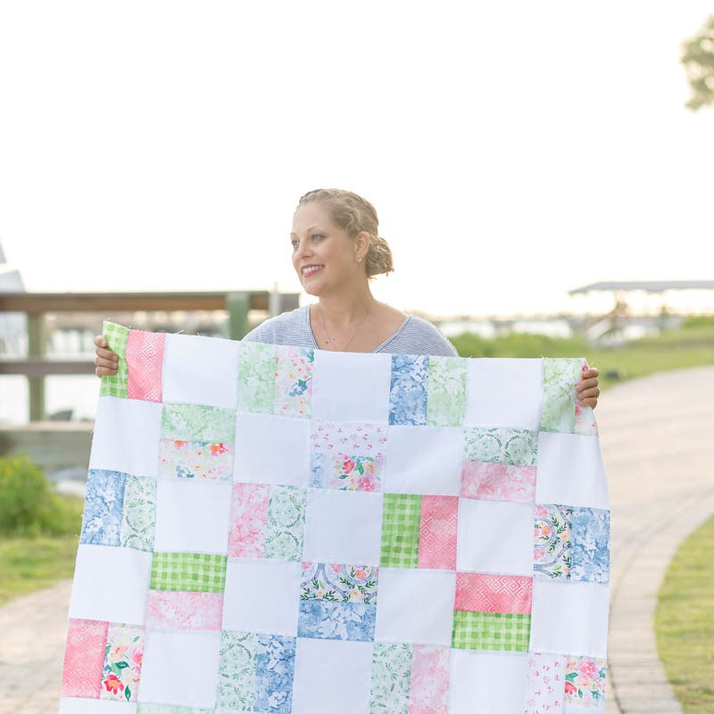 Sewing tutorial: Simple Squares baby quilt