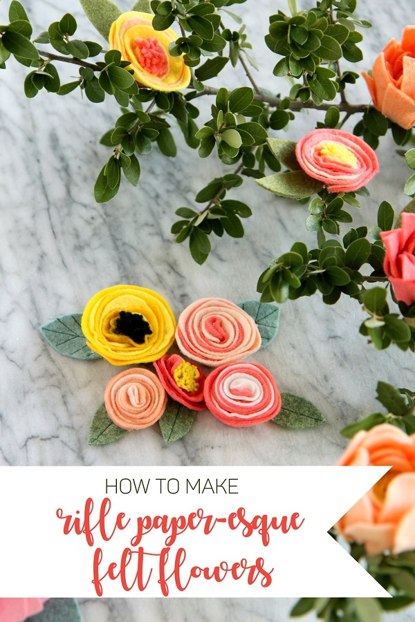 Sewing tutorial: Rifle Paper inspired felt flowers