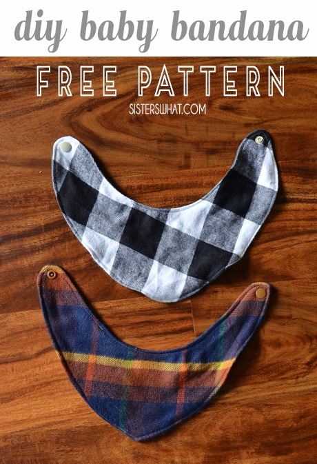 Sewing tutorial: Baby drool bandana, with free pattern