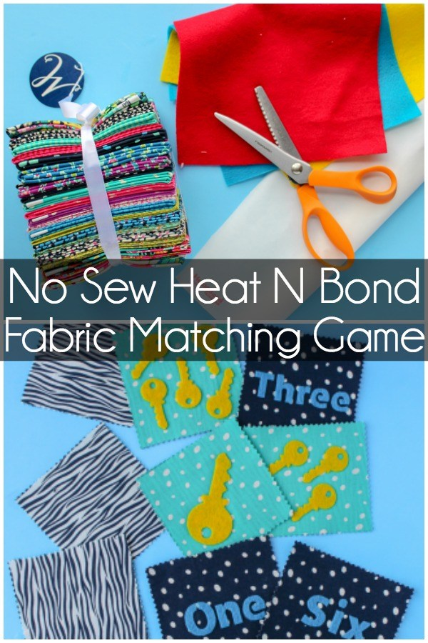 Sewing tutorial: No sew fabric matching game for kids