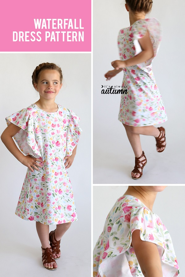 Sewing tutorial: Girls' Waterfall Dress
