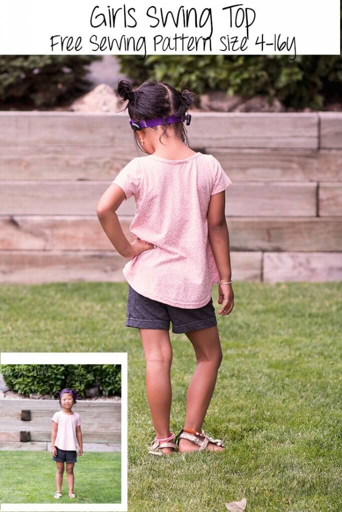 Free sewing pattern: Girls swing tee – Sewing