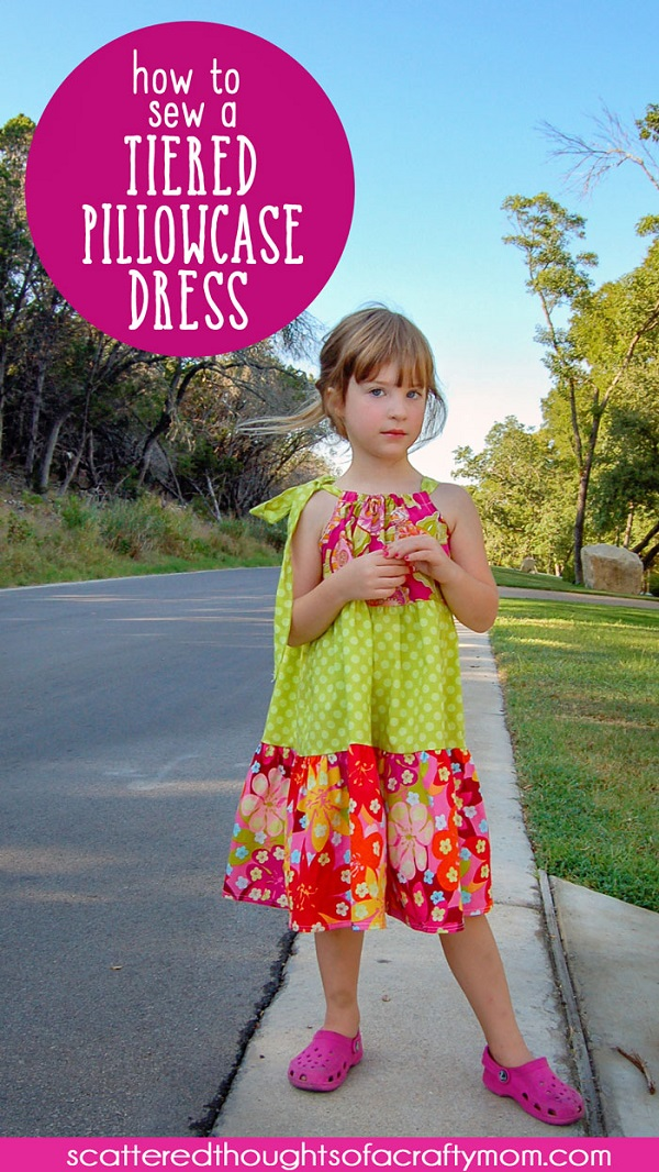 Sewing tutorial: Tiered pillowcase dress with free pattern