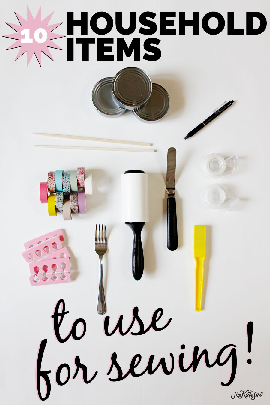 10 household items that make great sewing tools