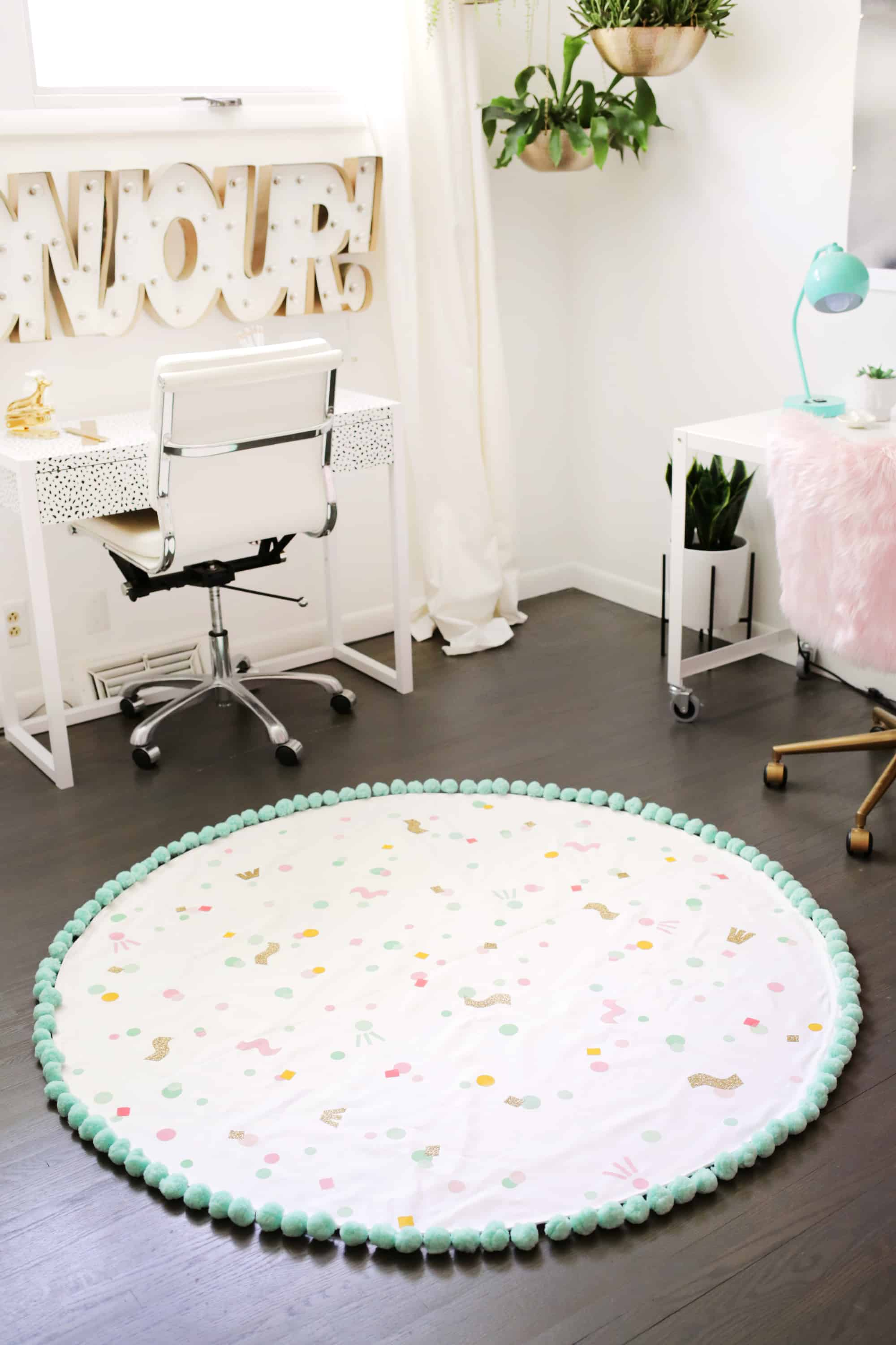 Sewing tutorial: Washable area rug