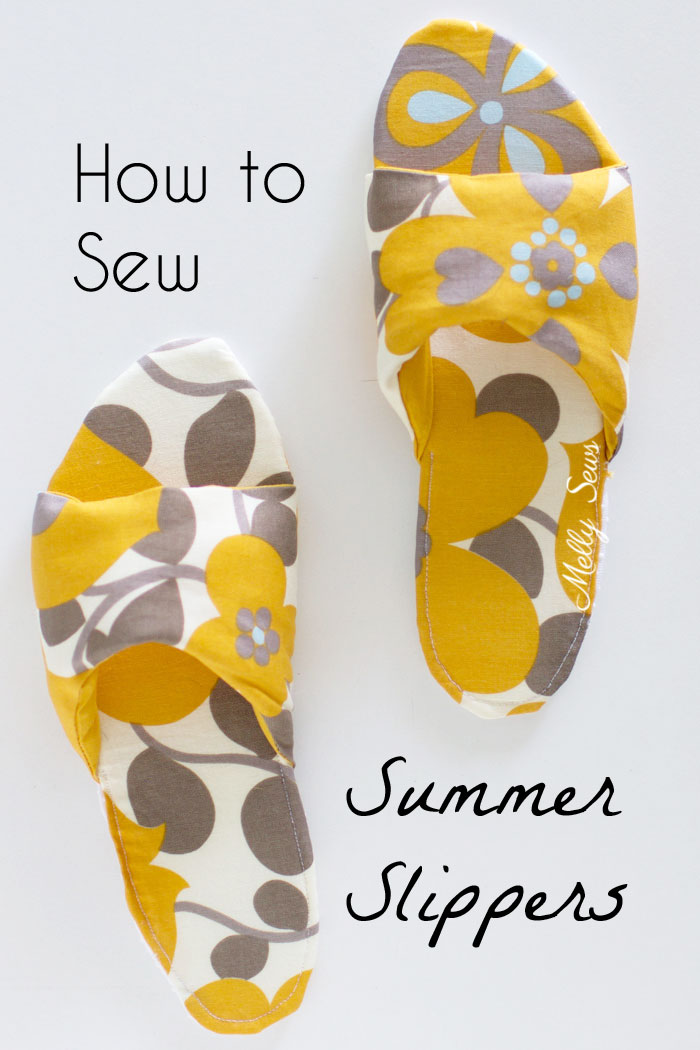 Sewing tutorial: Sew your own summer slippers