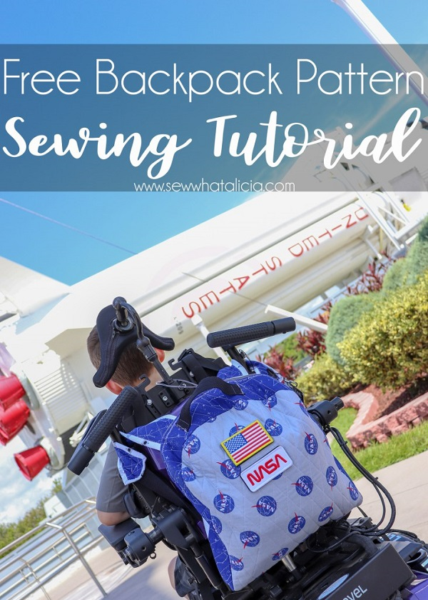 Free sewing pattern: Back to school backpack