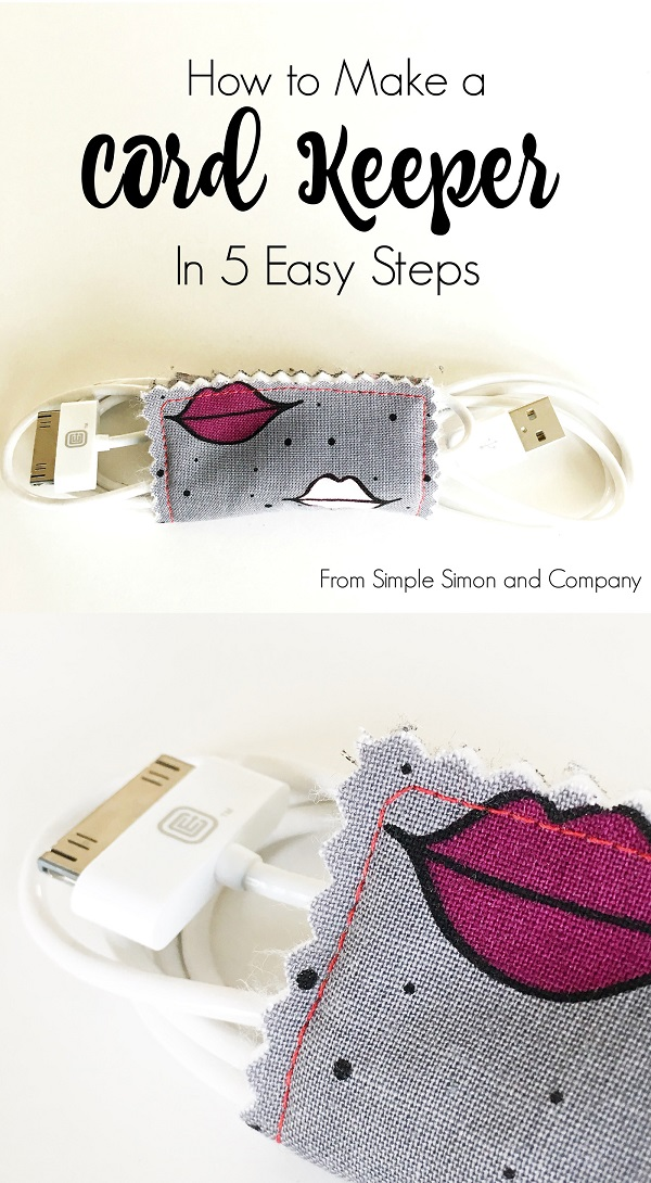 Sewing tutorial: Easy cord keeper