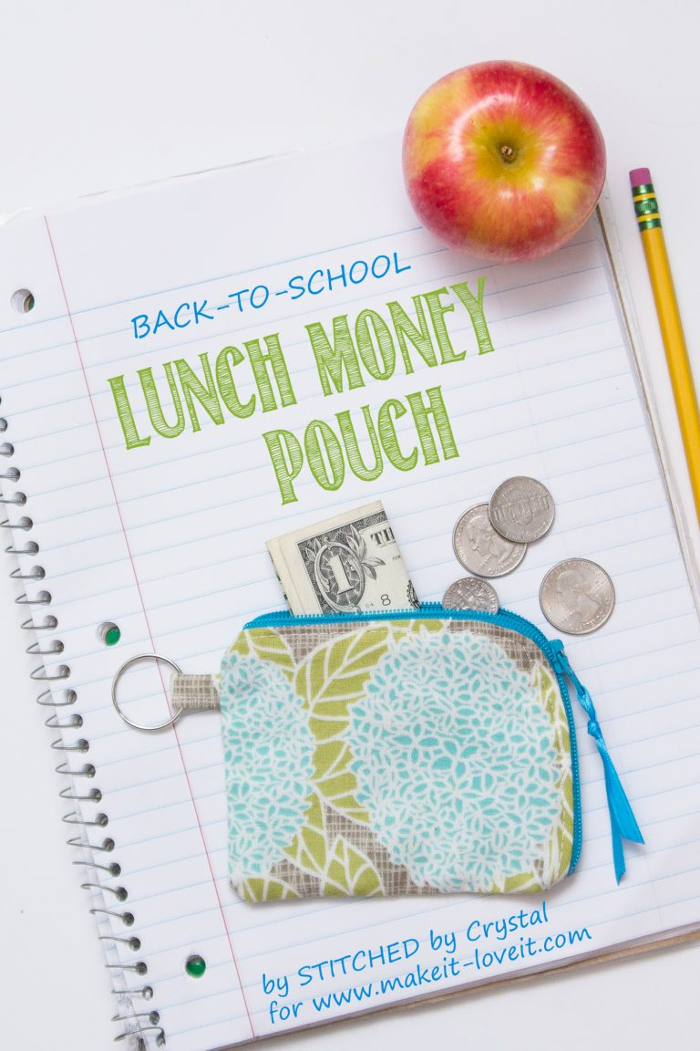Sewing tutorial: Lunch money zip pouch