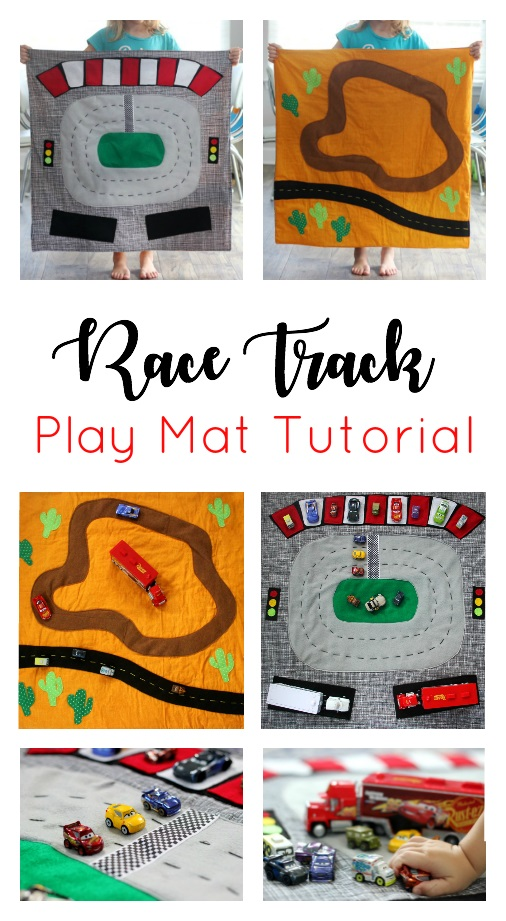 Sewing tutorial: Reversible race track car play mat