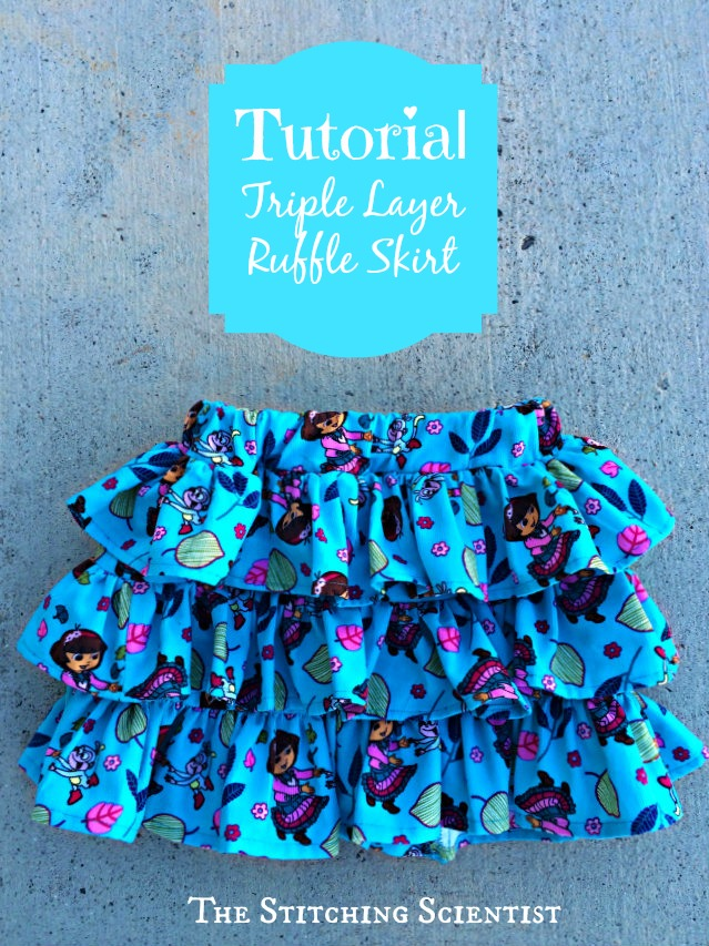 Tutorial: Little girls triple layer ruffle skirt