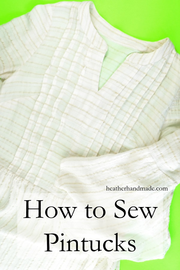 Tutorial: Sewing pintucks