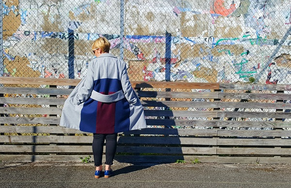 Sewing tutorial: Refashioned color blocked coat
