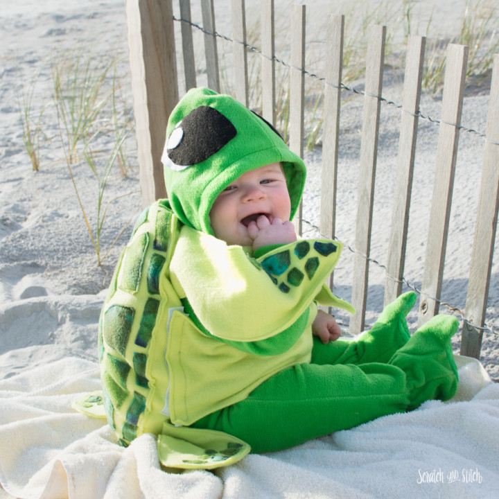 Sewing tutorial: Baby sea turtle Halloween costume