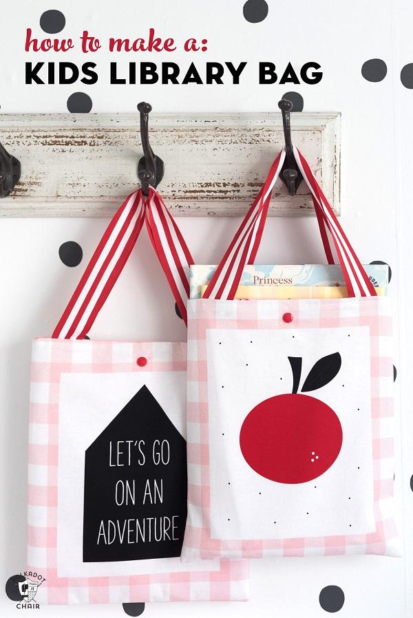 Sewing tutorial: Kids library bag