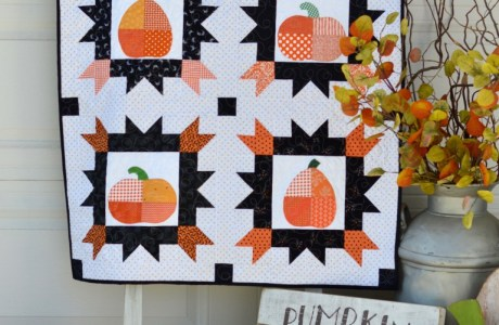 Tutorial: Patchwork pumpkin fall quilt