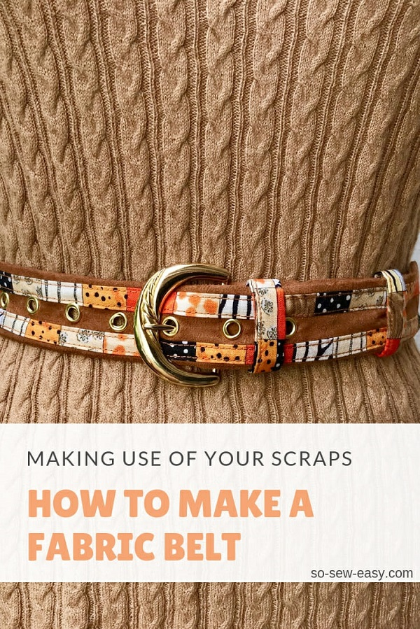 Sewing tutorial: Fabric belt using your scraps