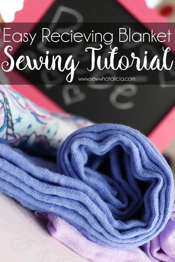 Sewing tutorial: Gauze fabric receiving blanket